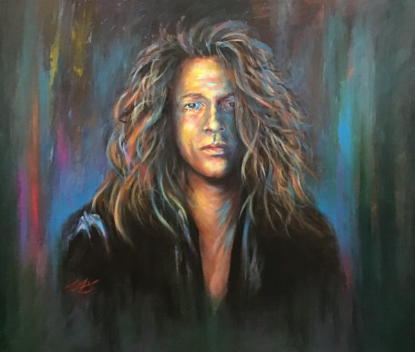 """Michael Hutchence"" 120cm x 100 cm in acrylics"